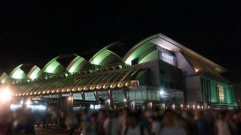 終演後のマリンメッセ福岡