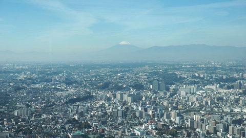 地上273mから見た富士山