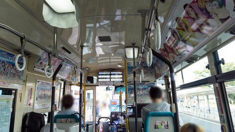 ラッピングバス車内