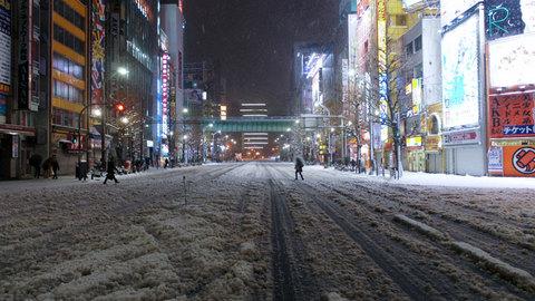 一面雪の中央通り