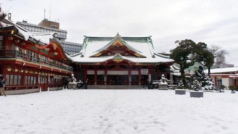雪の神田明神
